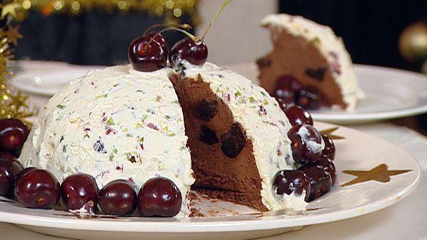 Brandied prune and chocolate terrine