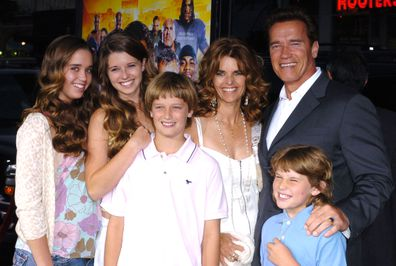 """Arnold Schwarzenegger, Maria Shriver and Family during """"The Longest Yard"""" Los Angeles Premiere - Arrivals at Grauman's Chinese Theatre in Hollywood, California, United States in 2005."""