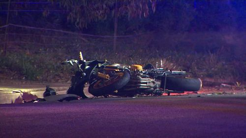 A 19-year-old man died at the scene following the motorcycle crash in Adelaide's west. (9NEWS)