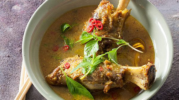 Leanne Kitchen and Antony Suvalko's lamb shank curry