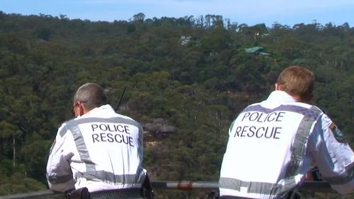 Police have searched Blue Mountains bushland. (9NEWS)