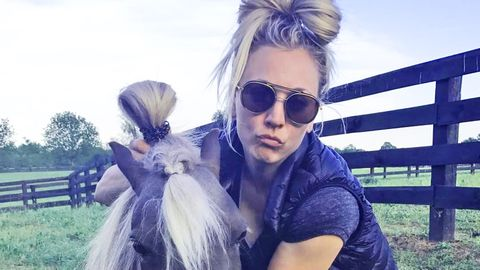 Kaley Cuoco Shmooshy pony