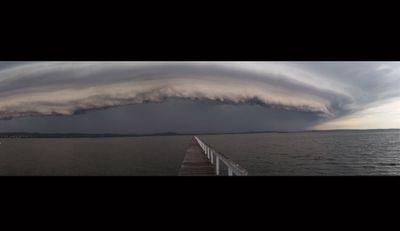 Long Jetty on NSW Central Coast on Monday, via Rebecca Spiteri.