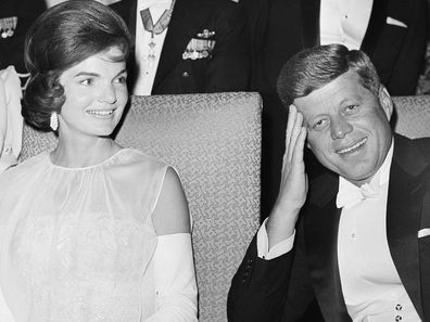 Jackie Kennedy with JFK