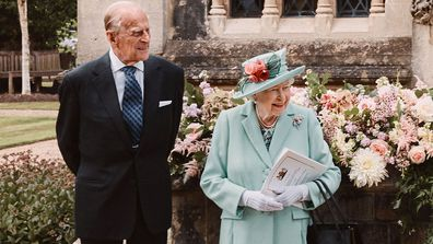 The Queen and Prince Philip at Princess Beatrice's wedding.