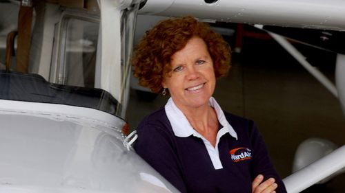 Catherine Fitzsimons was flown to hospital after the crash.