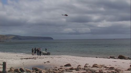 Sarah Williams was paddling off the coast of Normanville, south of Adelaide. (9NEWS)