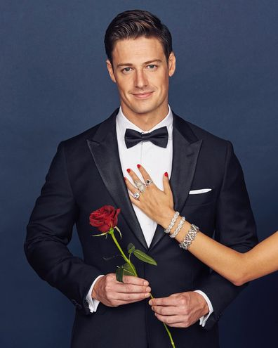 The Bachelor, Matt Agnew, rose, tux