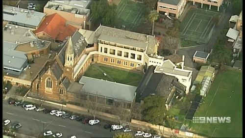 The incident sent Saint Dominic's Priory College into lockdown. Picture: 9NEWS