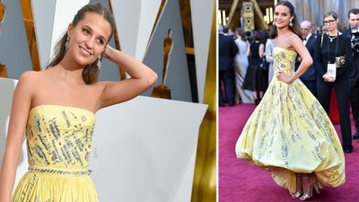 <p>Best supporting actress nominee Alicia Vikander. (AP)</p>