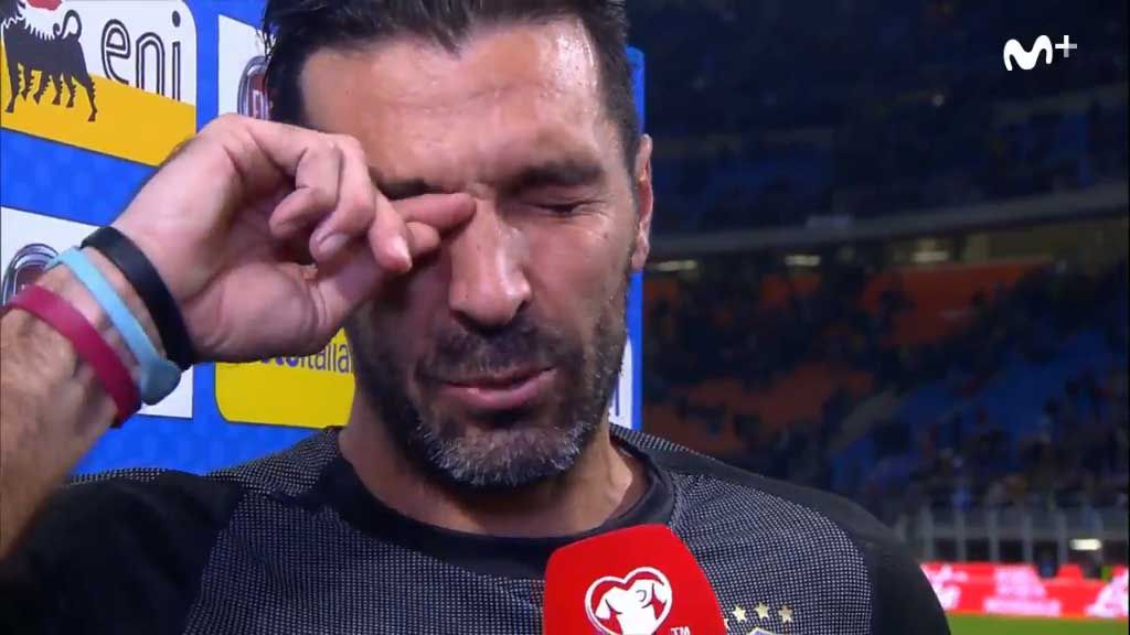 Italian keeper in tears after shock World Cup result