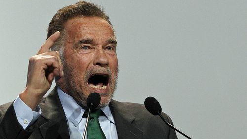 Actor Arnold Schwarzenegger delivers a speech during the opening of COP24 UN Climate Change Conference 2018 in Katowice, Poland.