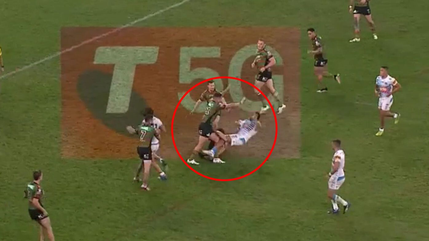 South Sydney forward Jaydn Su'A in trouble for shoulder charge