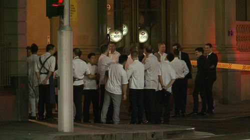 Staff and diners were evacuated from Fratelli Fresh and neighbouring restaurants including The Rockpool. (9NEWS)
