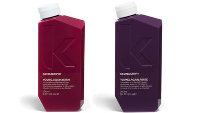 """For ageing hair:<br><p><a href=""""http://kevinmurphy.com.au/"""" target=""""_blank"""">YOUNG.AGAIN.WASH, $36.95, and YOUNG.AGAIN.RINSE, $37.95, KEVIN.MURPHY.</a></p>"""