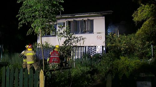 It took fire crews around 45 minutes to put out the blaze. (9NEWS)