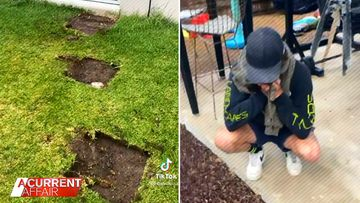 Tradie becomes a social media star after ripping up wrong backyard