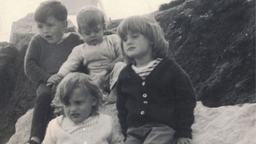 Family photo from 1968 of Elaine (far left) with her siblings Alan (right), Helen (centre) and Wendy.
