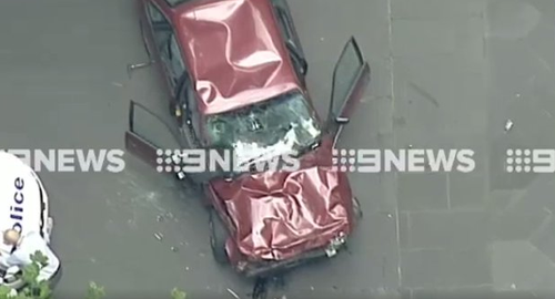 The car believed to belong to the suspect. (9NEWS)