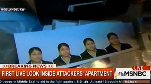 Photos throughout the home were shown to viewers live to air. (MSNBC)