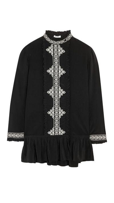 "<a href=""http://www.net-a-porter.com/product/516583/Vilshenko/marni-embroidered-silk-crepe-de-chine-top"" target=""_blank"">Marni Embroidered Silk Crepe De Chine Top, $668, Vilshenko</a>"