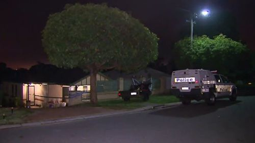 An off-duty police officer managed to get all three children out of them home and to safety. (9NEWS)
