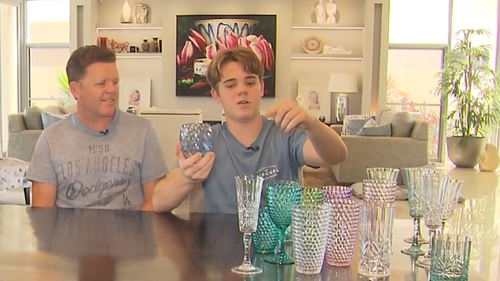 Gold Coast teen millionaire Sam Richards with his father, Phil.