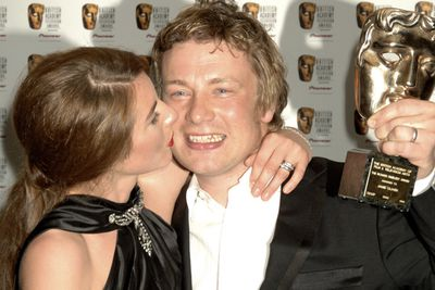 """<b>Jamie Oliver</b>'s wife, <b>Jools</b>, likes to turn her hubby on by getting sexy with food. She once admitted to wearing an apron """"with nothing underneath"""" when preparing a romantic meal for her man. But Jools' costumes aren't just reserved for the kitchen.   She also does a dance after decorating the Christmas tree """"dressed in nothing but a pair of jingle bells on my boobs."""" Naughty!"""
