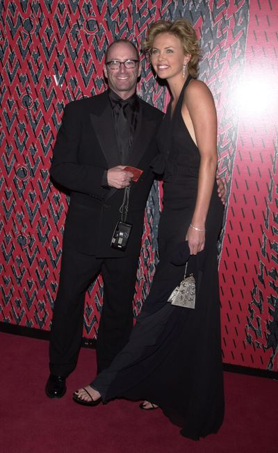 Herb Ritts and Charlize Theron at the Valentino 40th anniversary gala.