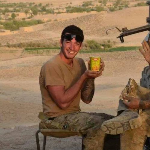 Brock spent three years in Afghanistan, and suffers PTSD.