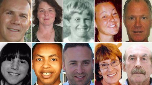 Some of the long-term missing persons being sought by the National Missing Persons Coordination Centre. Picture: Supplied