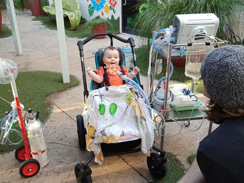 Dominic Grayson has been at Randwick Children's Hospital for over a year.