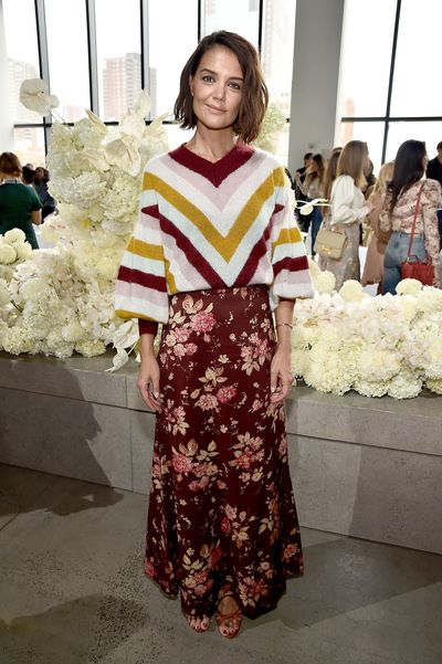 Katie Holmes at the Zimmermann show for New York Fashion Week, September 10, 2018