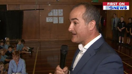Merlino's Oprah moment: the Education Minister  made the surprise announcement this morning. (9NEWS)