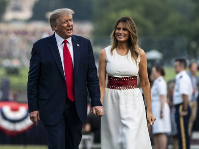 Donald and Melania Trump at the White House