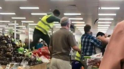 Shoppers have fought amid coronavirus panic-buying.