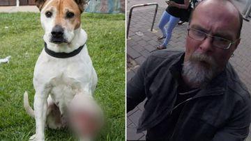 Michael Sumner and dog Bindi.