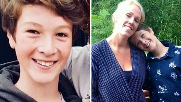 The 13-year-old and his mother Michelle Degenhardt.