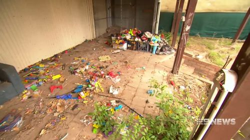 "Mr Adams said the property was a ""biohazard"" after he evicted the family. (9NEWS)"