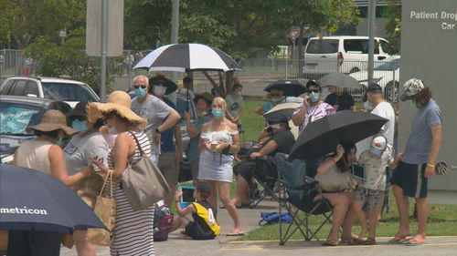 People waited for up to four hours at some clinics in Brisbane and on the Gold Coast.