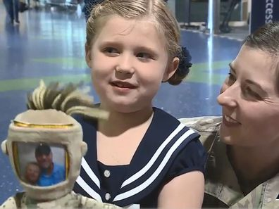 Child's military deployment doll lost at airport, returned after social media campaign