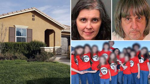 The Turpin California home, dubbed the 'House of Horrors'.