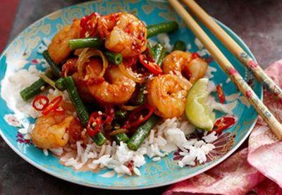 "Recipe:<a href=""/recipes/iprawn/8350324/malaysian-sambal-prawns"" target=""_blank"" draggable=""false"">Malaysian sambal prawns</a>"