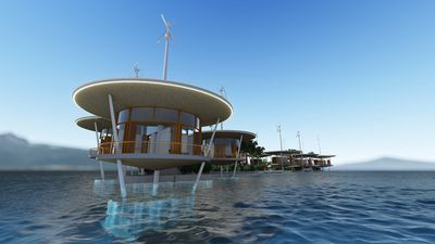 The first floating city is expected to be complete by 2020. (Blue Frontiers)