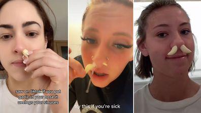 Doctors debunk garlic nose hack