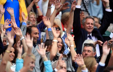 Pippa and James Middleton at Wimbledon Mexican Wave