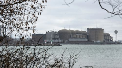 """The Pickering Nuclear Generating Station in Pickering, Ontario. Ontario Power Generation said an alert warning Ontario residents of an unspecified """"incident"""" at the nuclear plant early Sunday morning was sent in error."""