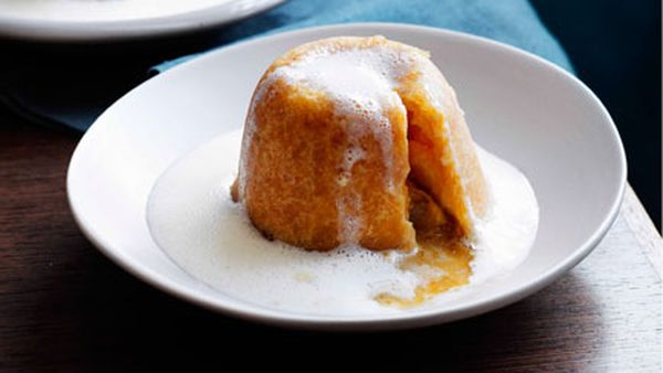 Sussex pond puddings with mandarin English cream