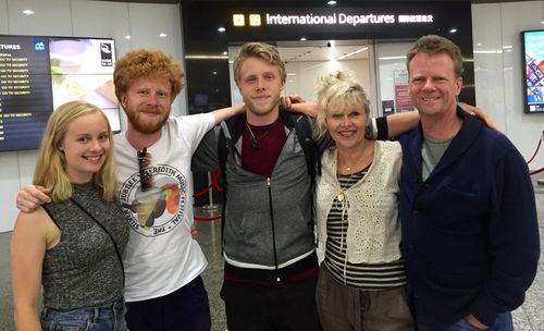 Brett and Louise McLeod with their three children Jackson, Alexander and Olivia