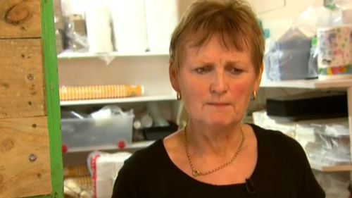 Heartless thieves stole money from Ms Carroll's cafe. (9NEWS)
